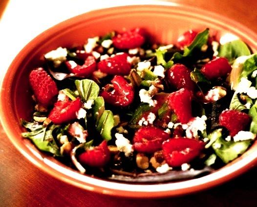 Raspberry Almond Summer Salad