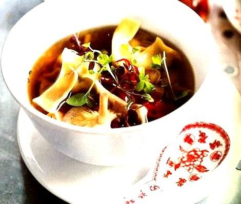 Mushroom Dumpling Soup