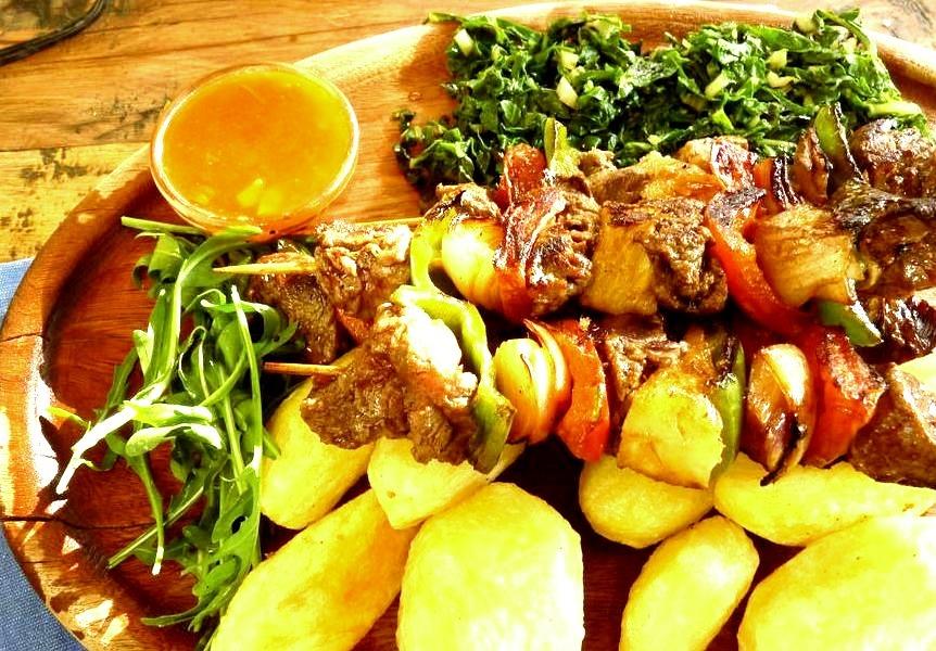 best kibabs in Kenya (by charcoal _bora)