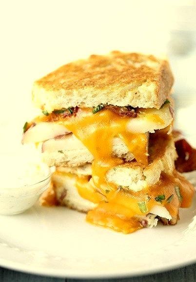 ranch potato bacon grilled cheese