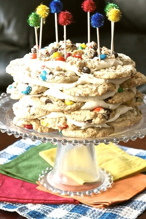 M&M Cookie Stack Cake