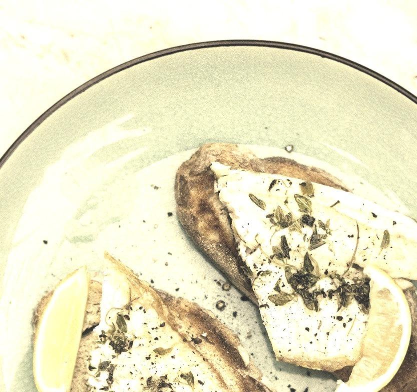 Sea Bass on Toast.