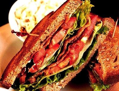 Bacon, Lettuce, and Tomato Sandwich!