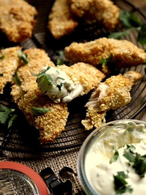 Jalapeno Cheddar Baked Chicken Strips