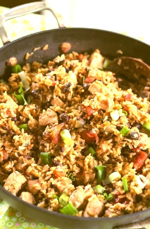 Black Bean and Chicken Fried Rice