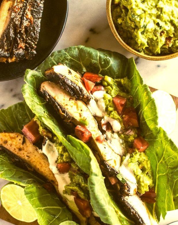 Harissa Portobello Mushroom Tacos
